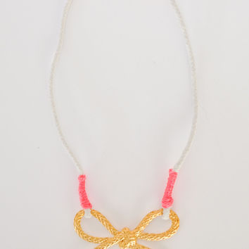 Brooklynd's Bow Necklace - Gold