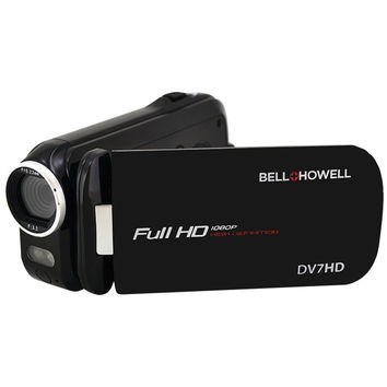 Bell+howell 16.0 Megapixel Slice Ii Dv7hd Ultraslim 1080p Hd Camcorder (black)