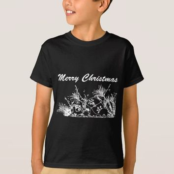 Kids' Hanes TAGLESS® T-Shirt - Christmas Baubles
