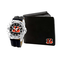NFL Cincinnati Bengals Men's Watch and Wallet Gift Set