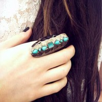 Turquoise Teardrop Stone Ring from Lockie & Lulu