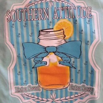New SOUTHERN ATTITUDE SWEET TEA   BOWS  SHIRT Country Life
