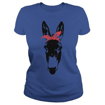 Bandana Donkey shirt Premium Fitted Ladies Tee