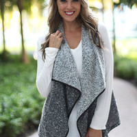Gray Asymmetrical Vest