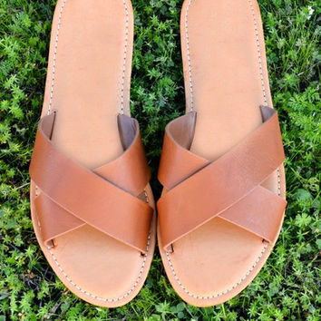 The Kenzie Sandal - Brown