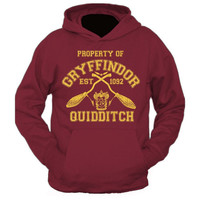 New Adults Property Of Gryffindor Quidditch Team Harry Potter Hooded Sweat Hoodie Hogwarts Hooded Sweat