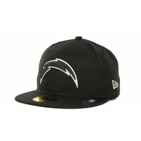 San Diego Chargers NFL Black And White 59FIFTY Cap - http://www.tkqlhce.com/click-7710548-11191294?url=http%3A%2F%2Fshop.neweracap.com%2FNFL%2FSan-Diego-Chargers%2F20462827 / Black / 100% Wool, Woven