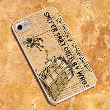 Daily Prophet harry Potter Dr who tardis Design For iPhone4/4s Case, iPhone 5/5s/5c Case, Samsung S3/S4 Case