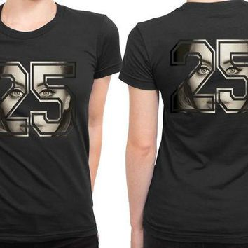DCCKG72 Adele Photo Make Twenty Five Shape 2 Sided Womens T Shirt