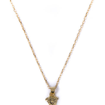 Mister Gold Micro Medusa Necklace | HYPEBEAST Store. Shop Online for Men's Fashion, Streetwear, Sneakers, Accessories