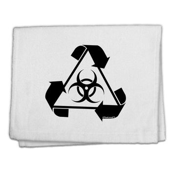 "Recycle Biohazard Sign Black and White 11""x18"" Dish Fingertip Towel by TooLoud"