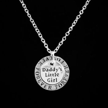 Daddy's Little Girl Daddy's Girl Forever Affirmation Gift Daughter Necklace