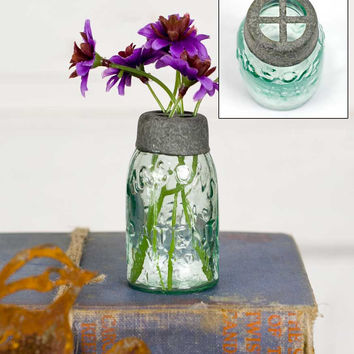 Mini Mason Jar with Flower Frog - Set Of 6 - *FREE SHIPPING*