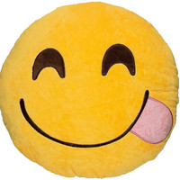Face Savouring Delicious Food Emoji Pillow