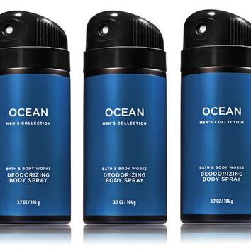 5 PACK Bath & Body Works OCEAN Body Spray Mist 3.7 oz