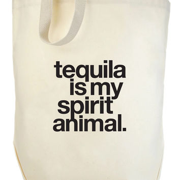 Tequila Is My Spirit Animal Big Tote