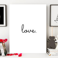 "Motivational Quote Poster ""Love."" Home Office Dorm Decor"