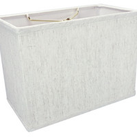 "0-009010>Rectangular Drum Lampshade (6.5x12) (6.5x12) x 9"" Textured Oatmeal"