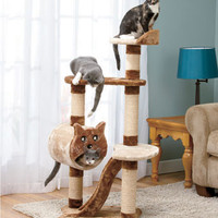 4-Ft. Multilevel Cat Tower with Scratchers