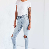 BDG Twig High-Rise Skinny Jean - Acid Wash Slash - Urban Outfitters