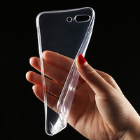 Transparent Clear Case for iPhone 7 iPhone 7 Plus Soft Silica Gel TPU Case Silicone Cover Ultra Thin Mobile Phone Case