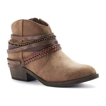 SO Women's Strappy Ankle Boots