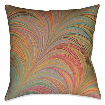 Multi-Color Marble Decorative Pillow