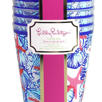 Lilly Pulitzer Tumbler Set of 8- She She Shells