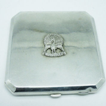 Burma Rifles Indian Army Silver Powder Compact, c.1944, INDIA, Military, WWII, Calcutta, Cooke & Kelvey, REF:232G
