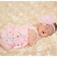 Baby romper, Baby Pink Lace Petti Romper, Petti romper, newborn romper, birthday outfit, photo, baby, toddler outfit, flower girl