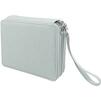 Shulaner Large Capacity Portable Pencil Case, 124 Slots, Gray