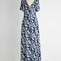 Boho Long A-line Divinely Nineties Dress