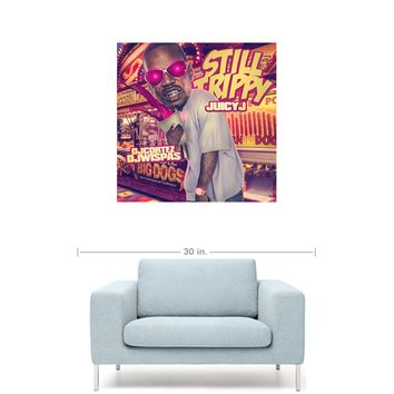 "Juicy J - Still Trippy Mixtape Cover 20"" x 20"" Premium Canvas Gallery Wrap Home Wall Art Print"