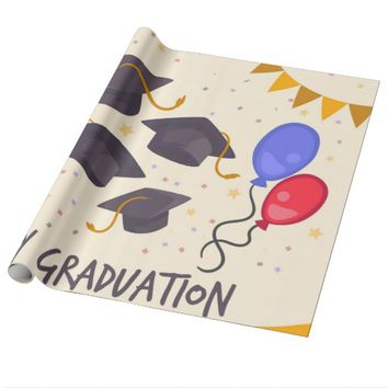 Happy Graduation Wrapping Paper