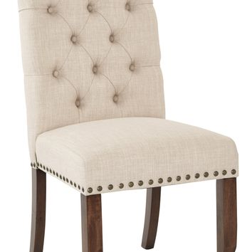 Office Star Linen Jessica Tufted Dining Chair