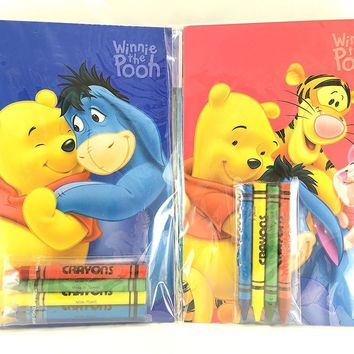 Party Favors Winnie-the-Pooh Coloring Book & Crayon Set 12 Pack ( Assorted Style
