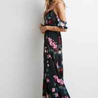 Sexy Strap Black Dress Summer Autumn Long Maxi Dress Floral Printed = 5613062465