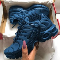 NIKE Air Max Plus Tn Ultra Army Green Men Wave Sneakers Women Men Sports Shoes B-CSXY Navy blue