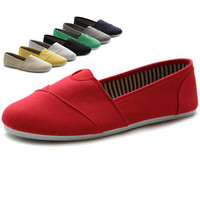 Ollio Womens Shoes Slip on Sneaker Canvas Flats