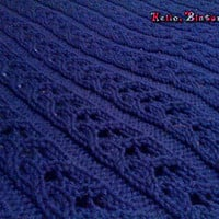 Lace Rib Stitch Blanket