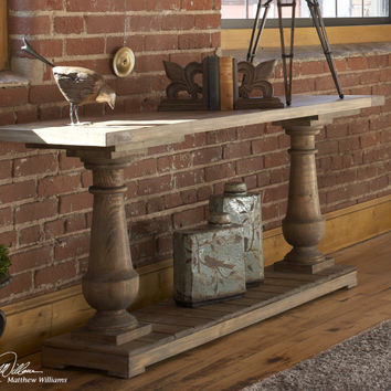 Stratford Salvaged Distressed Lumber Rustic Console Table