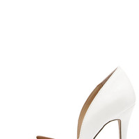 Make an Appearance White D'Orsay Pumps
