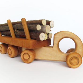 Wooden Car Transporter Toy-Eco-Friendly Wood Toy for Babies-Montessori Toy-Gift for a Boy-Push Toy-Wooden Toy for Babies-Baby Toy