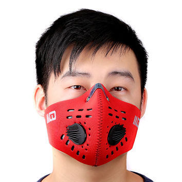 Cycling Bicycle Motorcycle Riding Face Mask Outdoor Sports Ski Snowboard Carbon Protective Filter Thermal Windproof Face Mask