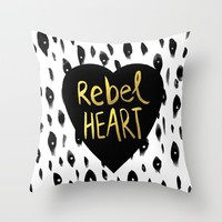 Rebel Heart Throw Pillow by Sandra Arduini | Society6