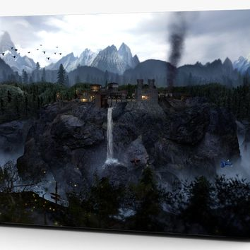 Fantasy Mountain Waterfall Vinyl Laptop Computer Skin Sticker Decal Wrap Macbook Various Sizes