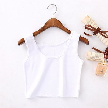 2018 Women Fashion Sexy Soft Short Tank Tops Solid  Sale