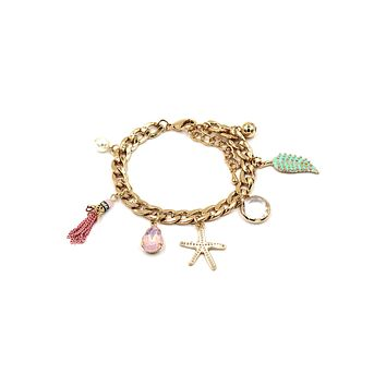 fashion starfish golden bracelet