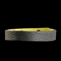 UNIONMADE - Caputo & Co. - Reversible Leather Bracelet in Grey and Limeade