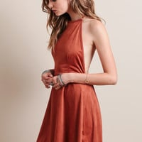 Crushing On You Faux Suede Dress